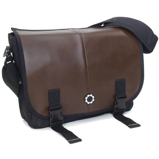 DadGear Messenger Diaper Bag, Professional Brown