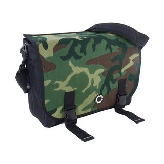 DadGear Messenger Diaper Bag, Basic Camouflage