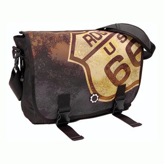 DadGear Messenger Diaper Bag, Route 66