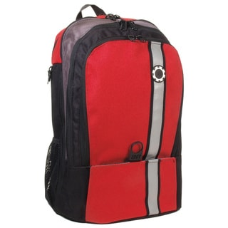 DadGear Backpack Diaper Bag, Retro Stripe Red