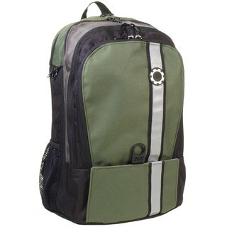 DadGear Backpack Diaper Bag, Retro Stripe Green