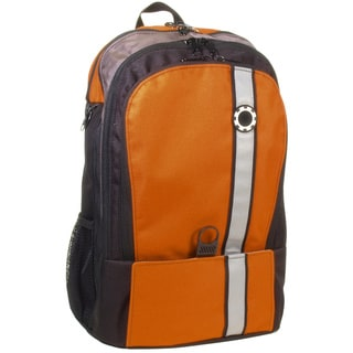 DadGear Backpack Diaper Bag, Retro Stripe Orange