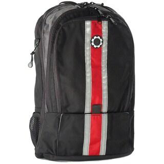 dadgear backpack black retro stripe diaper bag free. Black Bedroom Furniture Sets. Home Design Ideas