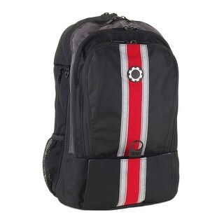 DadGear Backpack Diaper Bag, Center Stripe Red