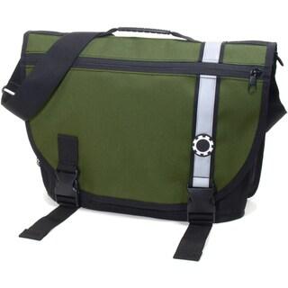 DadGear Courier Diaper Bag, Retro Stripe Green