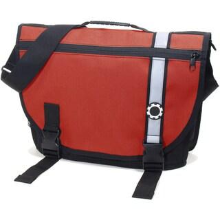 DadGear Courier Diaper Bag, Retro Stripe Red