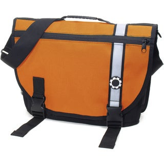 DadGear Courier Diaper Bag, Retro Stripe Orange