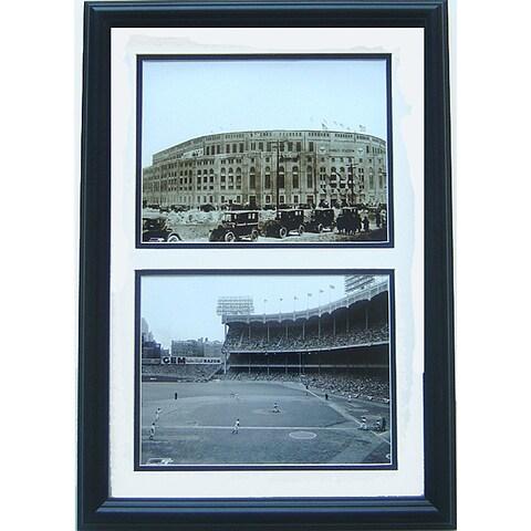 Yankee Stadium 12x18 Black and White Framed Print
