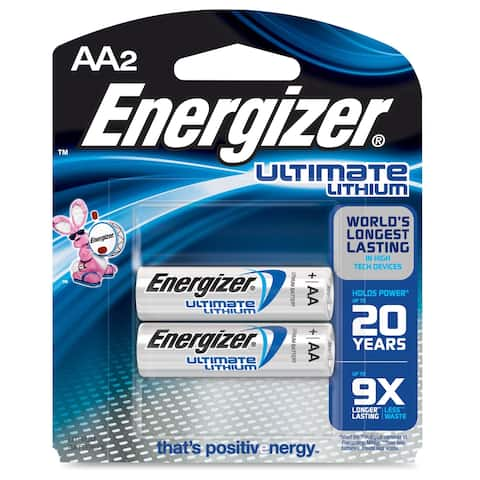 Energizer Ultimate Lithium AA Batteries, 2 Pack