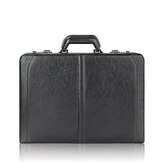 Solo Premium Leather 16-inch Hard-sided Black Laptop Attache Case with Combination Locks