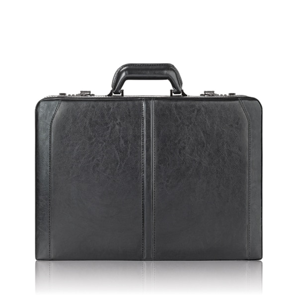 Solo Premium Leather 16-inch Hard-sided Black Laptop Attache Case with  Combination Locks 4678462d05bf7