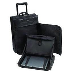 SOLO Rolling Carry-On Upright Garment Bag with Removable Laptop Case