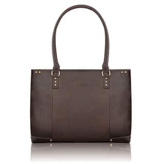 SOLO Women's 15.6-inch Espresso Leather Laptop Tote|https://ak1.ostkcdn.com/images/products/3202644/P11321747.jpg?impolicy=medium