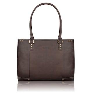 Shop SOLO Women s 15.6-inch Espresso Leather Laptop Tote - Free ... 7a7731f5c2