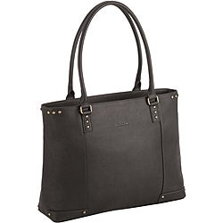 SOLO Women's 15.6-inch Espresso Leather Laptop Tote