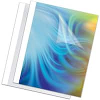 "Fellowes Thermal Presentation Covers - 1/4"", 60 sheets, White"