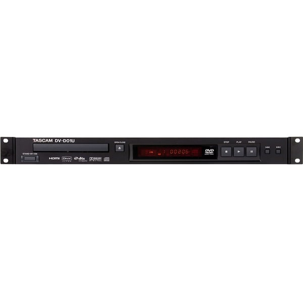 : TASCAM DV-D01U Single-Rackspace DVD Player with RS-232 Control Port