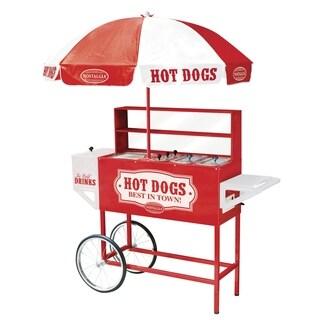 Nostalgia 48-inch Hot Dog Vending Cart with Umbrella