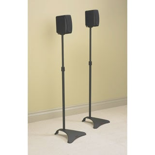 DarLiving Atlantic Adjustable Speaker Stand in Dark Titanium (Set of 2)
