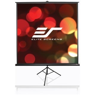 Elite Screens T136UWS1 Tripod Portable Tripod Manual Pull Up Projecti