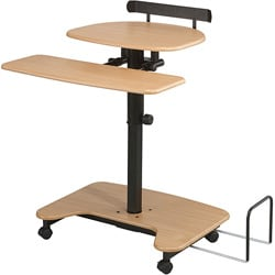 Balt Sit or Stand Mobile Workstation Desk