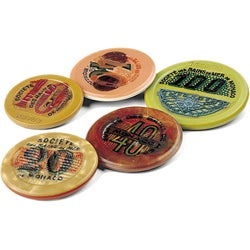 American Coin Treasures Authentic 1920s to 1940s Monte Carlo Gaming Chips (Set of 3)