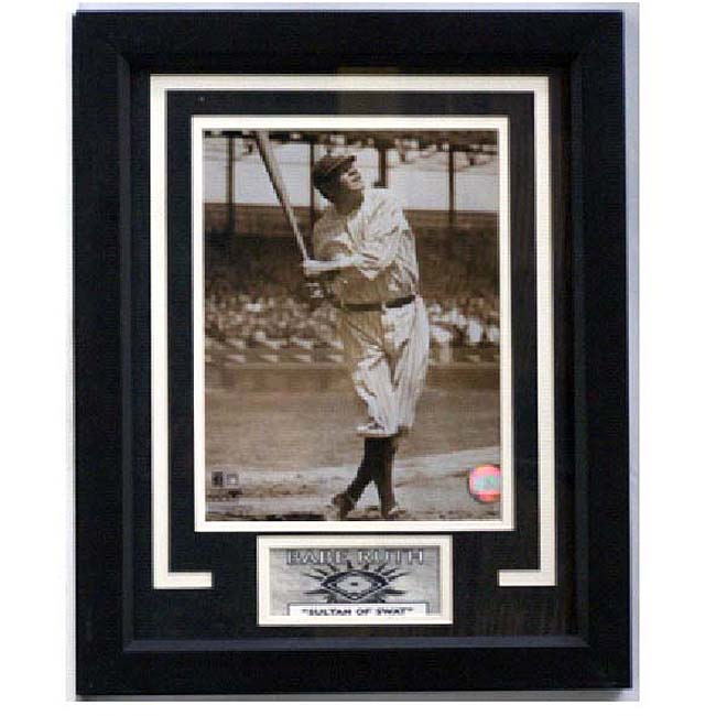 New York Yankees Babe Ruth 11x14 Deluxe Frame - Thumbnail 0