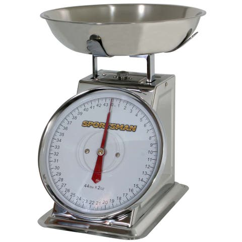 Stainless Steel 44-pound Kitchen Dial Scale