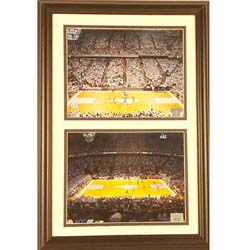 North Carolina Dean Dome 12x18 Custom Framed Double Print