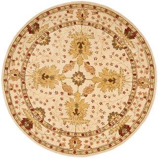 Safavieh Handmade Anatolia Oriental Oushak Ivory Hand-spun Wool Rug (8' Round)