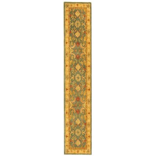 Safavieh Handmade Anatolia Oriental Legacy Light Blue Hand-spun Wool Runner (2'3 x 12')