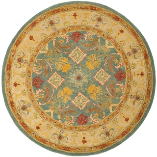 Safavieh Handmade Legacy Light Blue Wool Rug (4' Round)