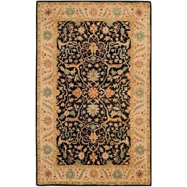 """Safavieh Handmade Mahal Black/ Beige Wool Rug - 9'6"""" x 13'6"""""""