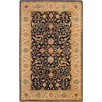 Safavieh Handmade Mahal Black/ Beige Wool Rug - 6' x 9'