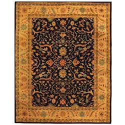 Safavieh Handmade Mahal Black/ Beige Wool Rug (7'6 x 9'6)