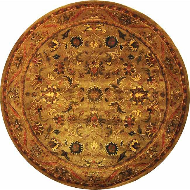 Safavieh Handmade Antiquities Kasadan Olive Green Wool Rug (6' Round)