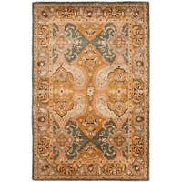 Safavieh Handmade Treasure Gold/ Green New Zealand Wool Rug - 5' x 8'