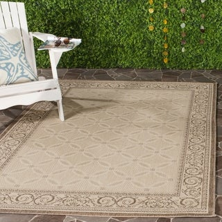 Safavieh Bay Natural/ Brown Indoor/ Outdoor Rug (8' x 11')