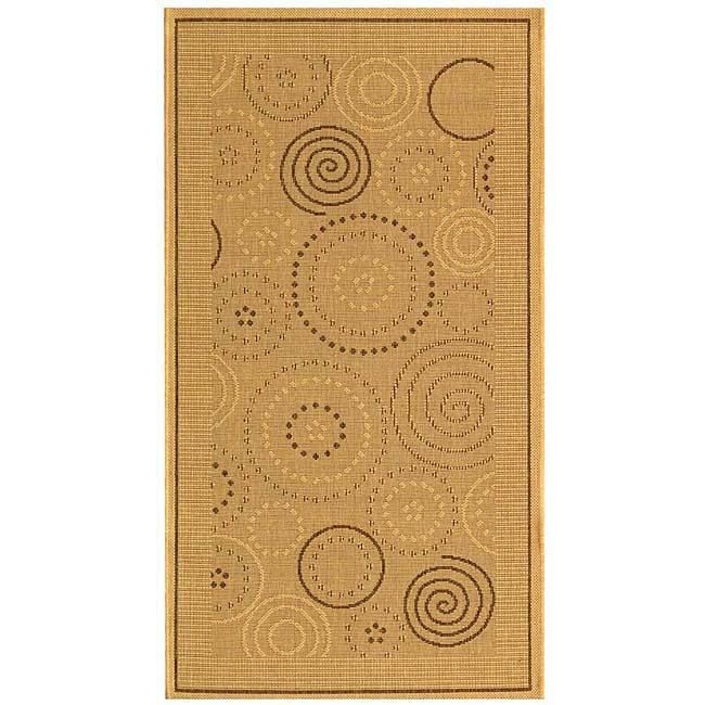 Safavieh Ocean Swirls Natural/ Brown Indoor/ Outdoor Rug (2' x 3'7)