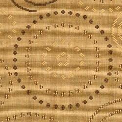 Safavieh Ocean Swirls Natural/ Brown Indoor/ Outdoor Rug (2' x 3'7) - Thumbnail 1