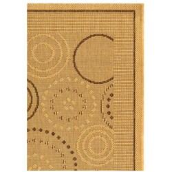 Safavieh Ocean Swirls Natural/ Brown Indoor/ Outdoor Rug (2' x 3'7) - Thumbnail 2