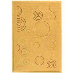 Safavieh Ocean Swirls Natural/ Brown Indoor/ Outdoor Rug (5'3 x 7'7)