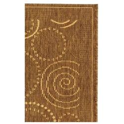 Safavieh Ocean Swirls Brown/ Natural Indoor/ Outdoor Runner (2'4 x 6'7) - Thumbnail 2