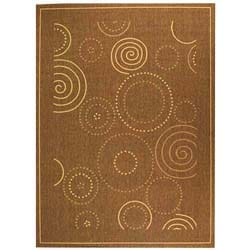Safavieh Indoor/ Outdoor Resort Brown/ Natural Rug (8' x 11')