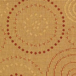 Safavieh Ocean Swirls Natural/ Terracotta Indoor/ Outdoor Rug (2'7 x 5') - Thumbnail 1