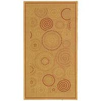 Safavieh Ocean Swirls Natural/ Terracotta Indoor/ Outdoor Rug - 2'7 x 5'