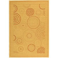 Safavieh Ocean Swirls Natural/ Terracotta Indoor/ Outdoor Rug - 5'3 x 7'7