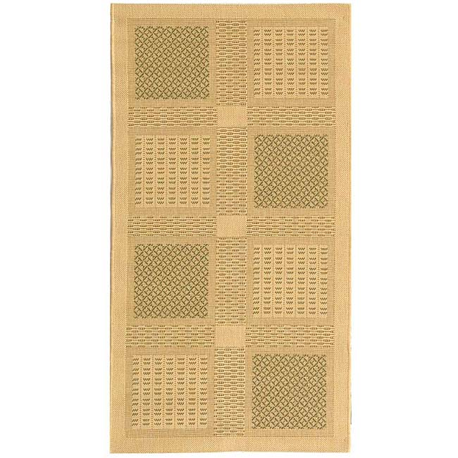 Safavieh Lakeview Natural/ Olive Green Indoor/ Outdoor Rug - 2'7 x 5'