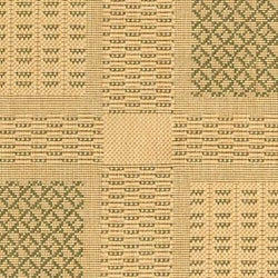 Safavieh Lakeview Natural/ Olive Green Indoor/ Outdoor Rug (2'7 x 5') - Thumbnail 1