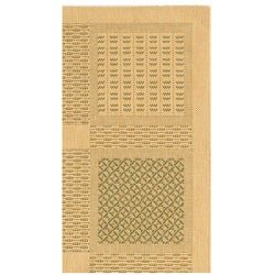 Safavieh Lakeview Natural/ Olive Green Indoor/ Outdoor Rug (2'7 x 5') - Thumbnail 2